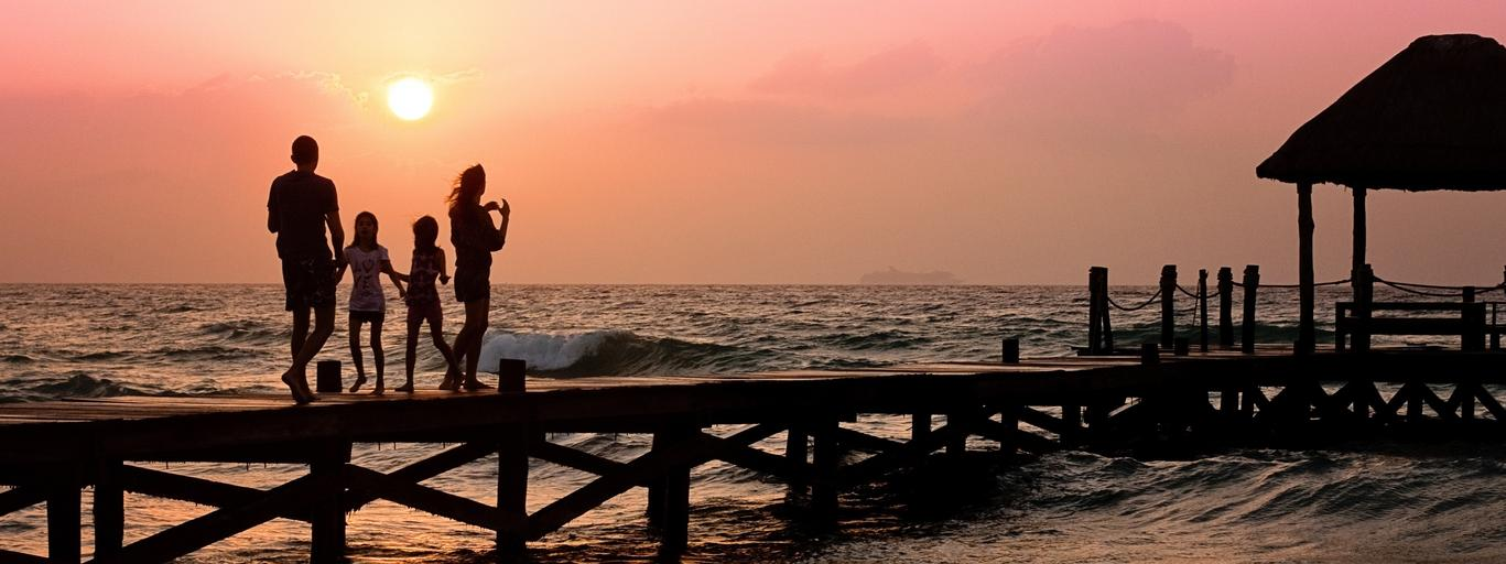 rodzina, wakacje, plaża