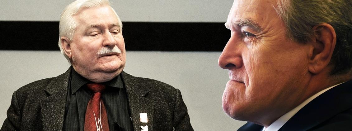Lech Wałęsa i Piotr Gliński