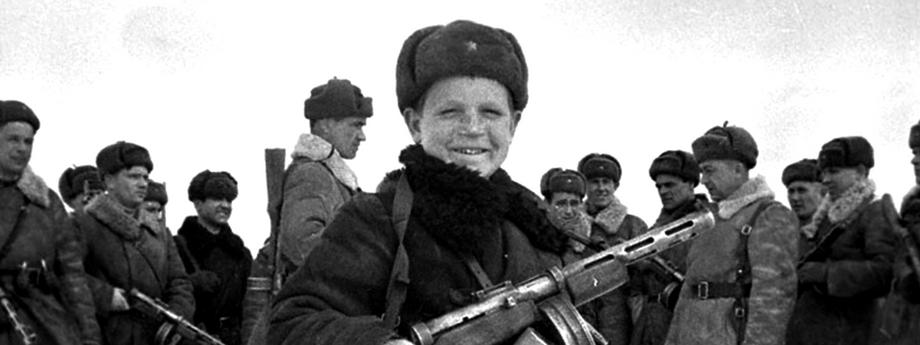 Vova Yegorov, 15 year old Red Army scout, USSR, World War II, 1942. Artist: Anon