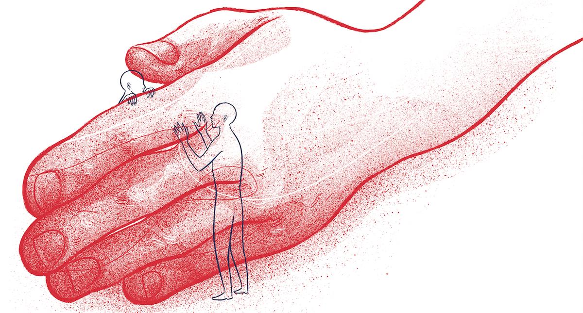 Dłoń, miłość, rozłąka