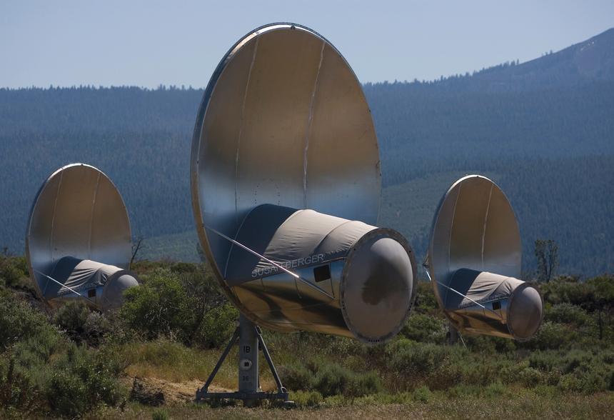 Teleskopy programu SETI w Redding w Kalifornii