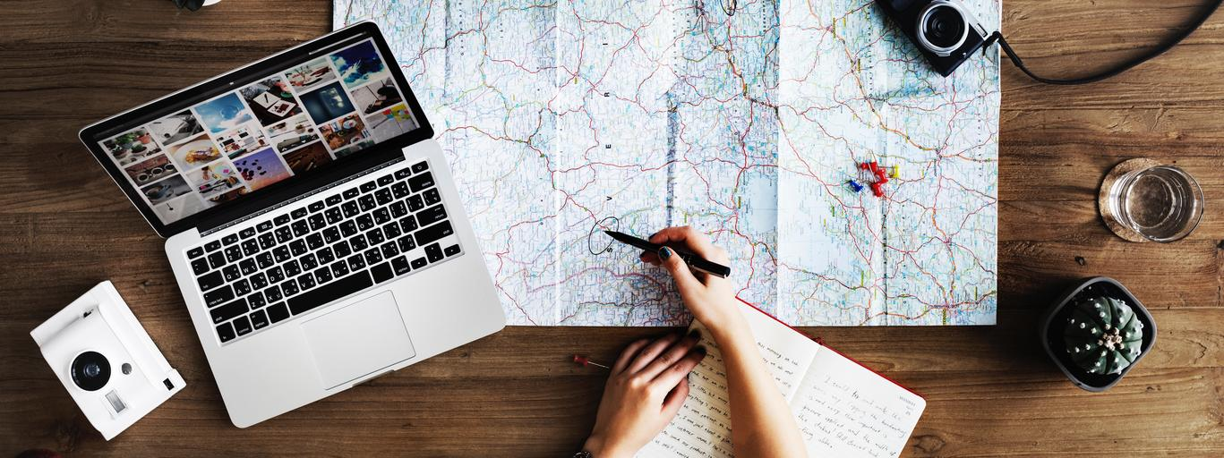 podróż, mapa, wakacje