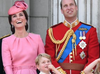 Members of The Royal Family attend Trooping the Colour