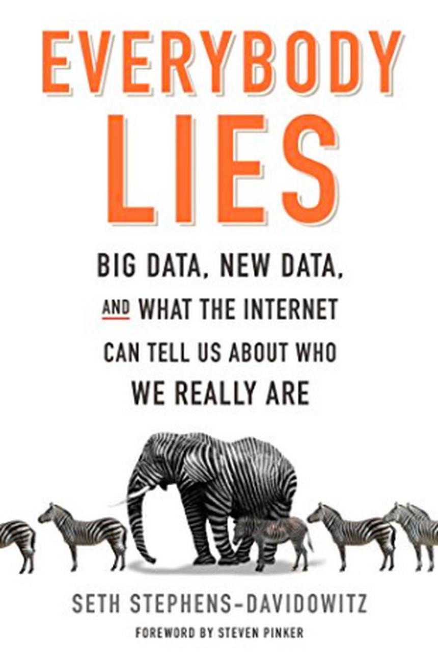 "Okładka książki ""Everybody lies"" Setha Stephensa-Davidowitza, HarperCollins Publishers"