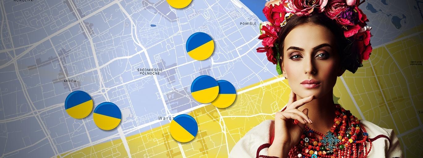 Ukraińska mapa Warszawy