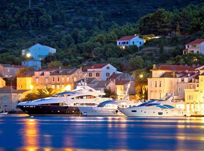 Chorwacja jacht przystań morze