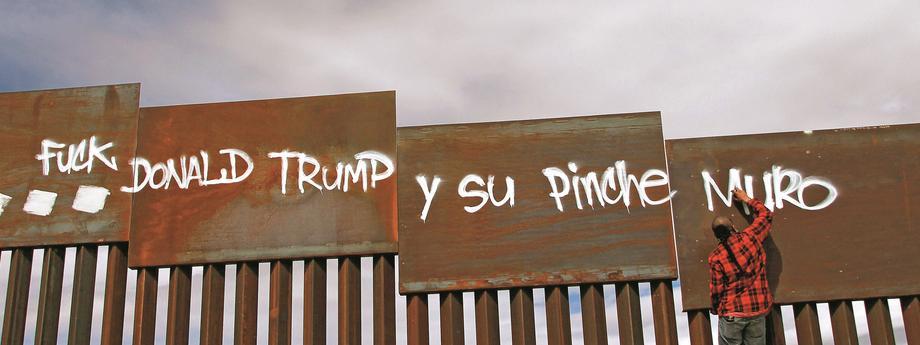 mur między Meksykiem a USA