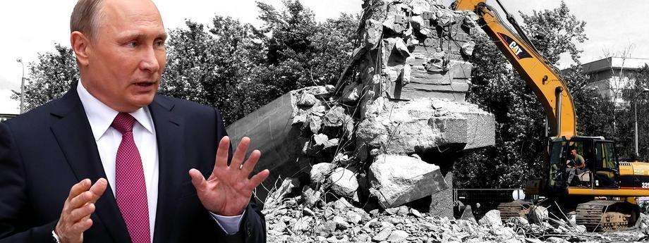 Putin i burzenie pomników