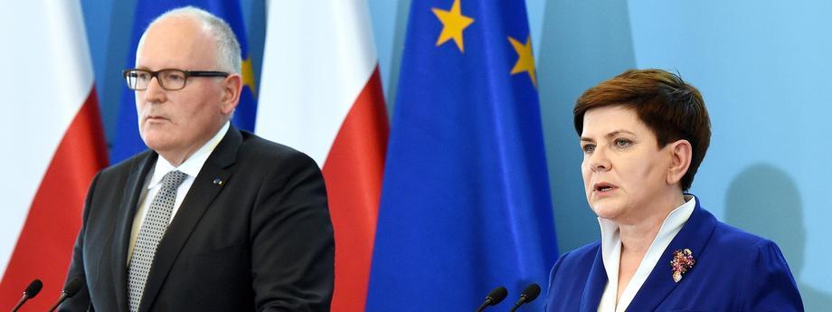 Beata Szydło Frans Timmermans polityka Komisja Europejska Unia Europejska Prawo i Sprawiedliwość PiS