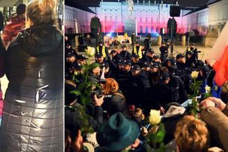 Uczestnicy miesięcznicy smoleńskiej pocięli kurtki kontrmanifestantom?