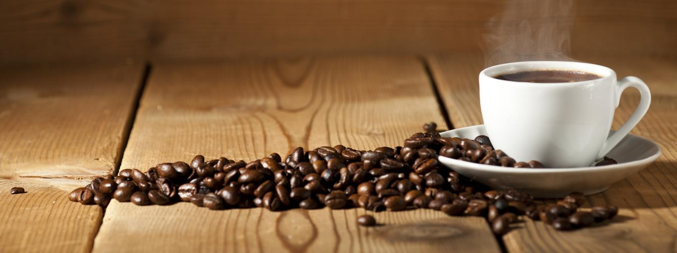kawa, ziarna, kofeina, filiżanka