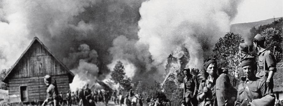 akcja Wisła, palenie wioski