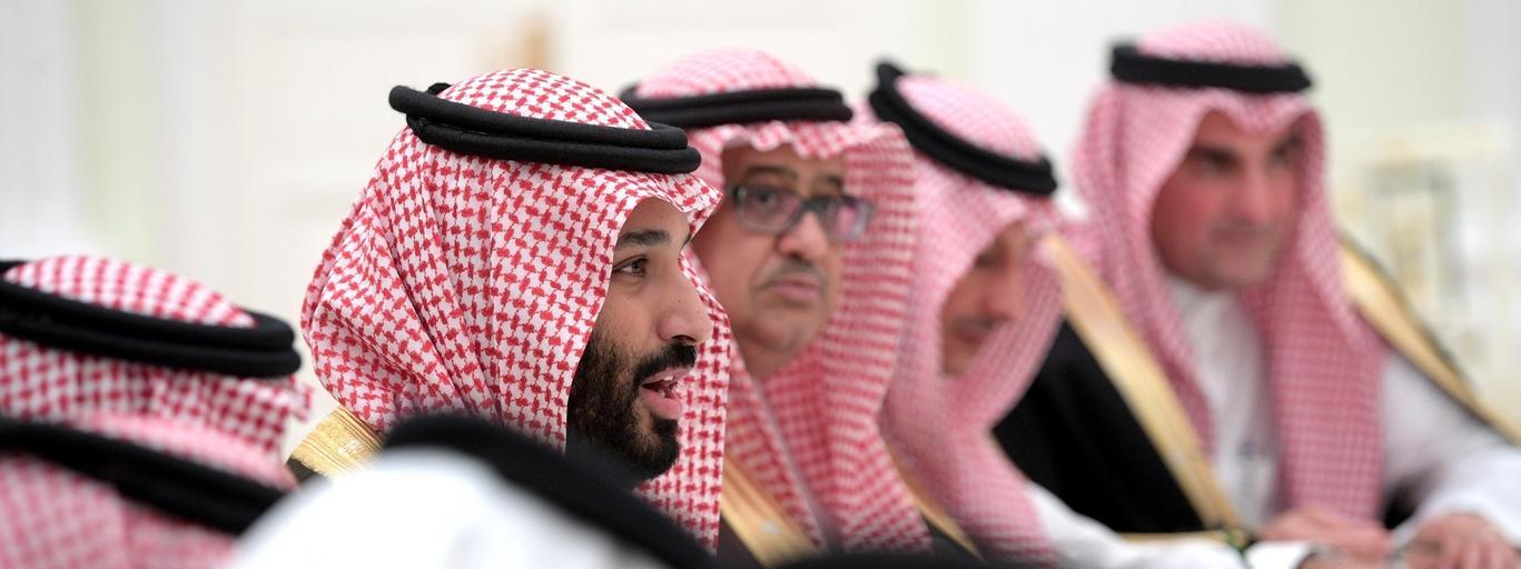 Russian President Vladimir Putin meets with Deputy Crown Prince of Saudi Arabia Mohammad bin Salman