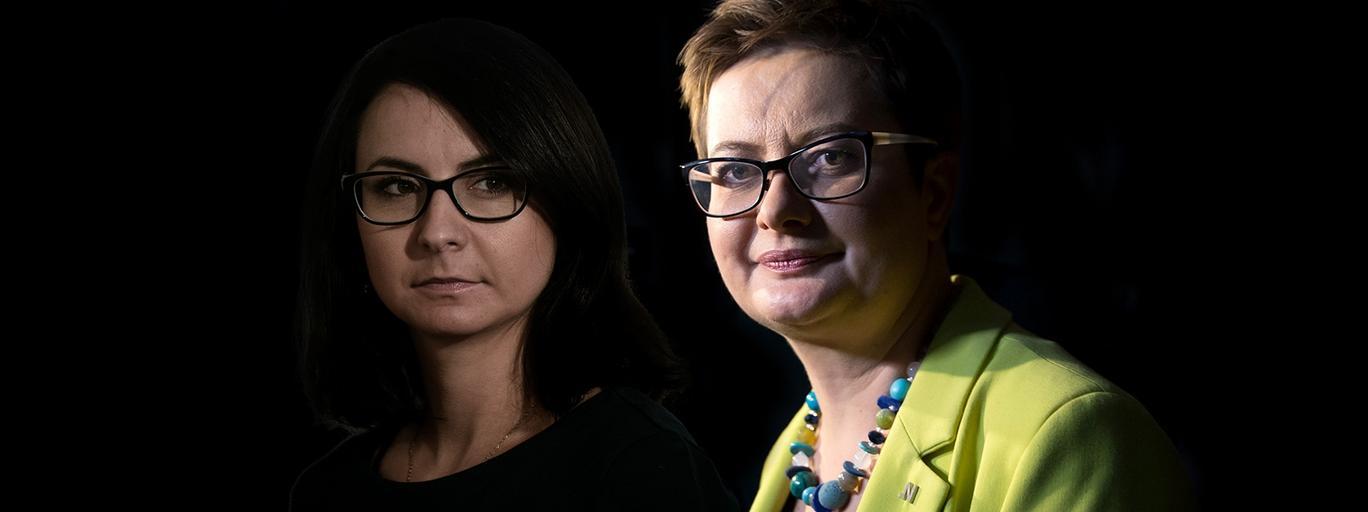 Kamila Gasiuk-Pihowicz i Katarzyna Lubnauer