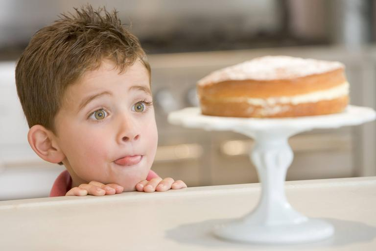 słodycze, dziecko, ciasto