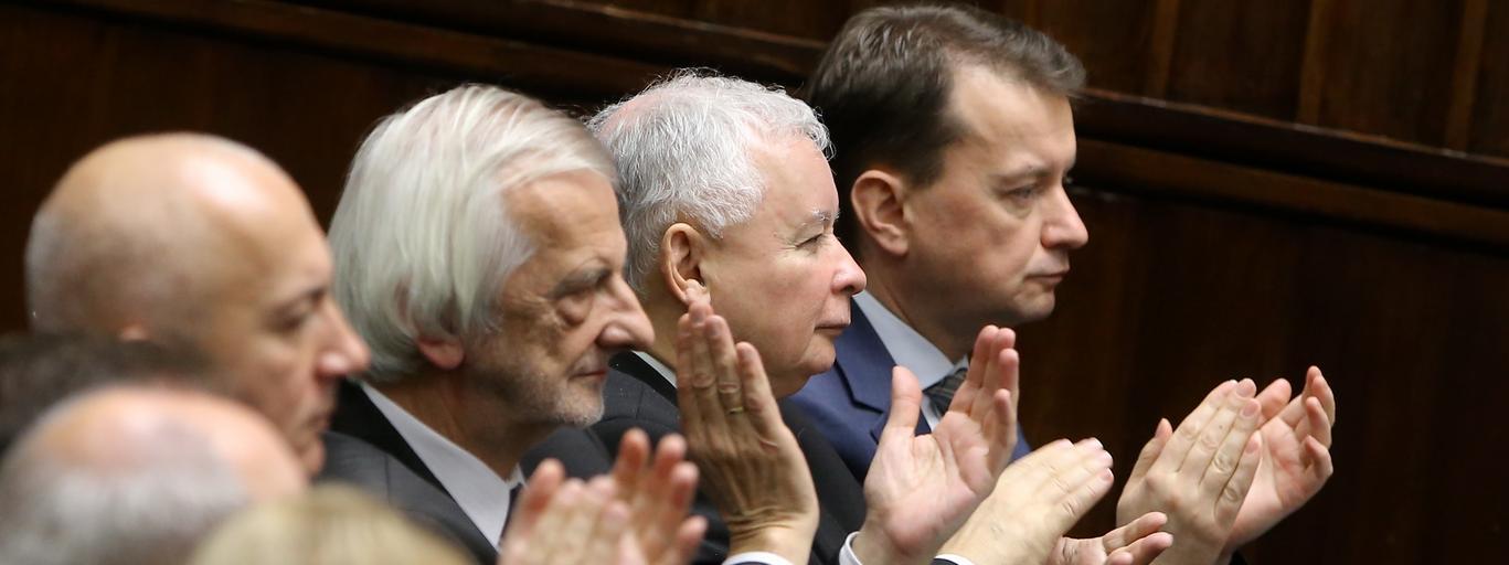 Joachim Brudziński Ryszard Terlecki Jarosław Kaczyński Mariusz Błaszczak PiS polityka Prawo i Sprawiedliwość Sejm