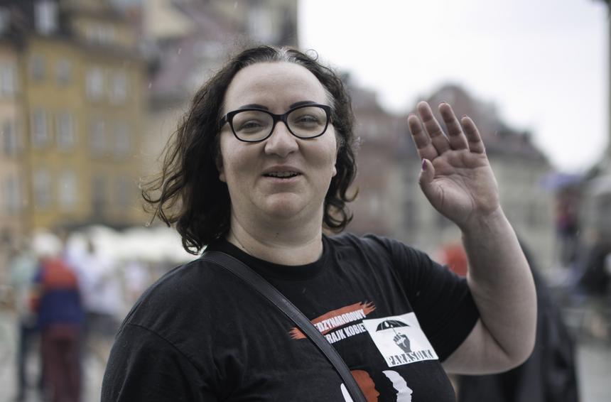 Marta Lempart – Inicjatorka Ogólnopolskiego Strajku Kobiet.