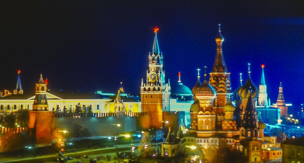 Red Square and the Kremlin Illuminated at Night