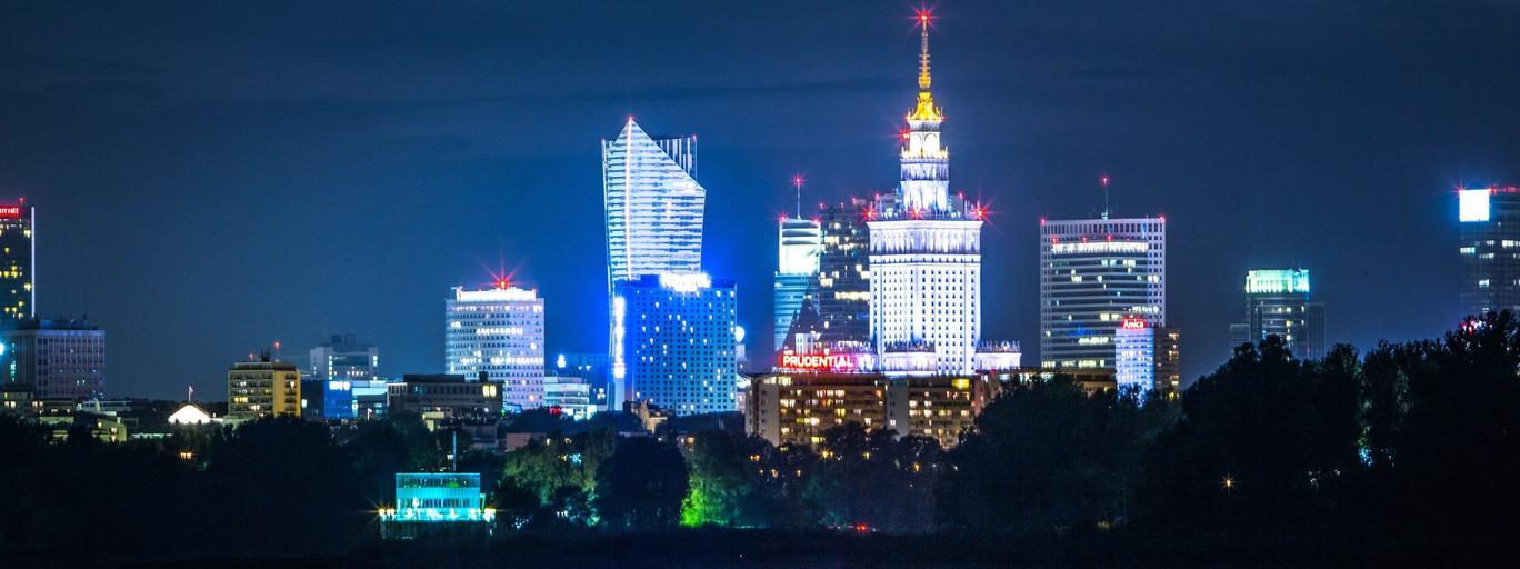 Warszawa panorama Polska Wisła