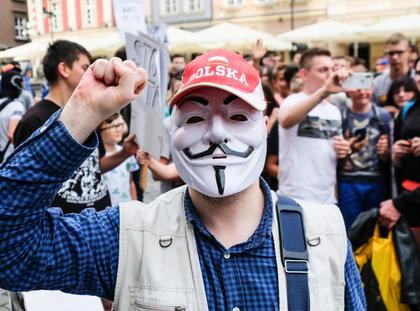 Protest przeciw ACTA 2 w Poznaniu