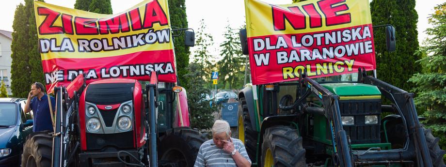 Miszkancy powiatu Baranowo przeciw budowie CPK