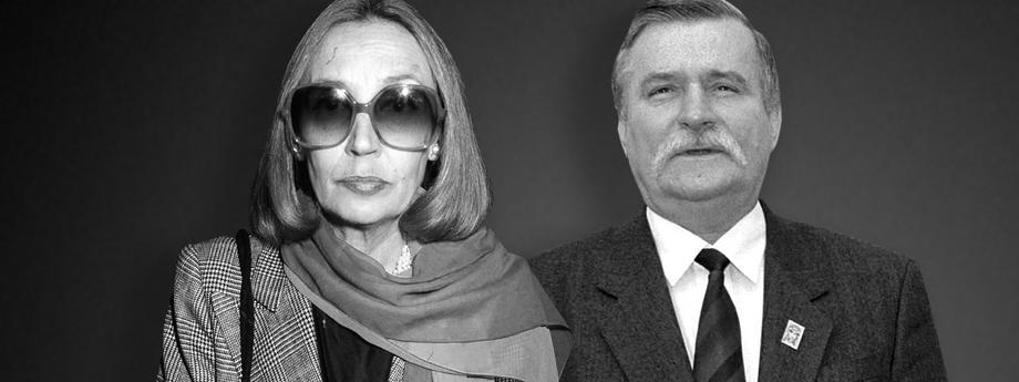 Lech Wałęsa oraz Oriana Fallaci