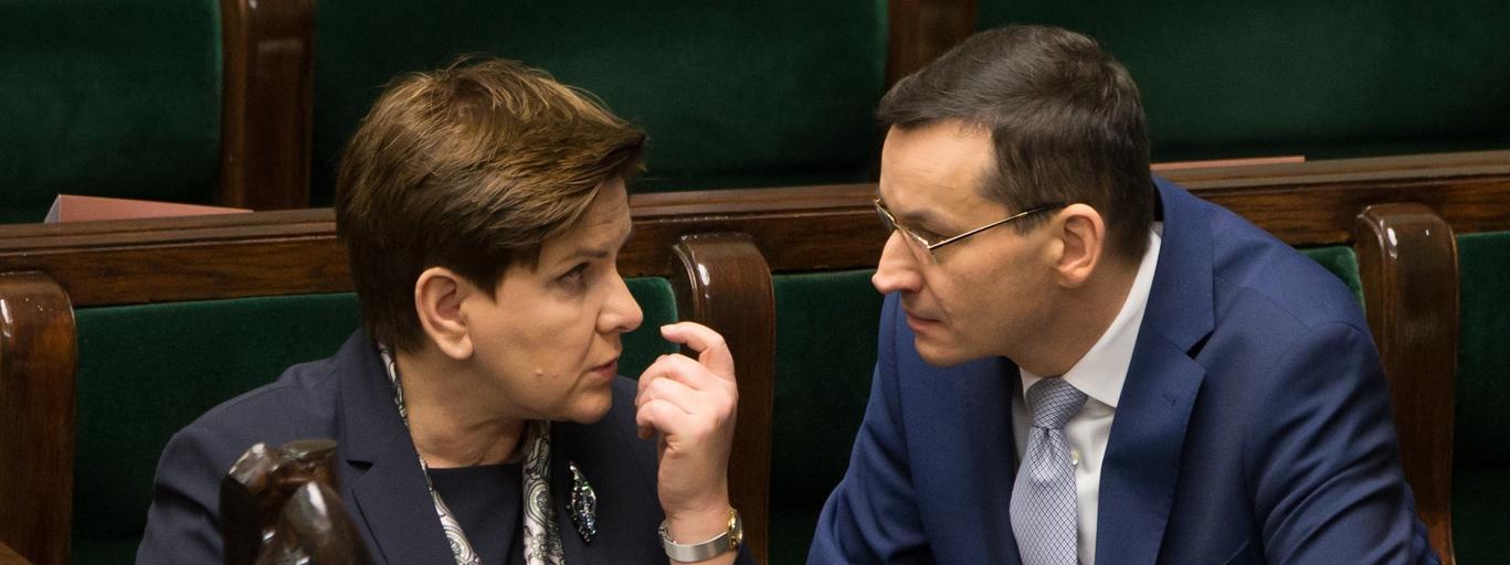 Beata Szydło Mateusz Morawiecki Prawo i Sprawiedliwość polityka PiS