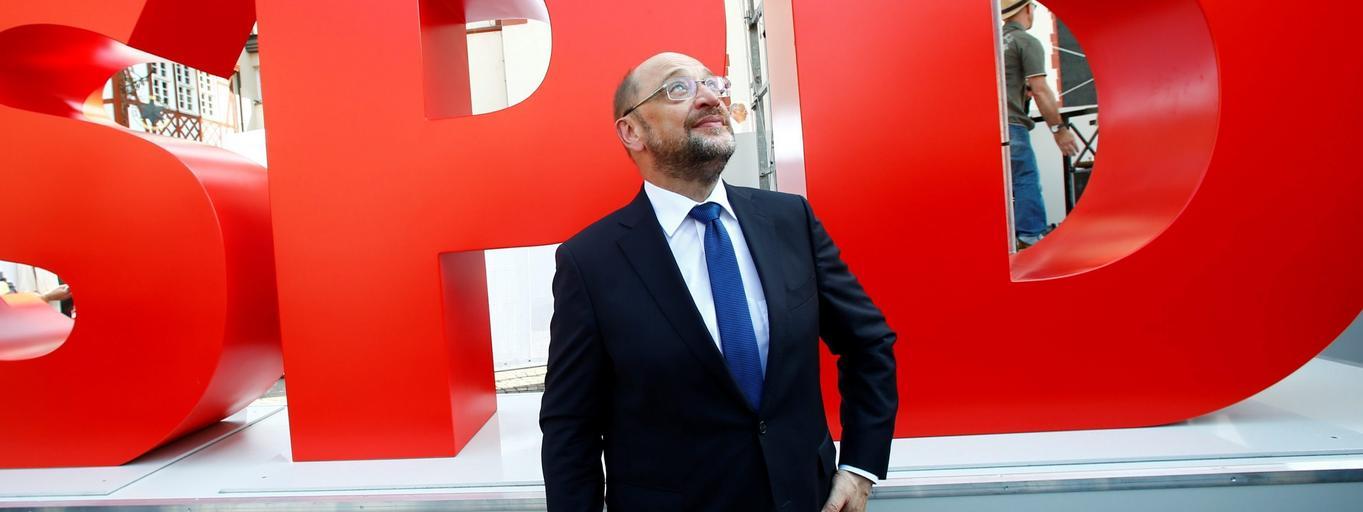 Frankfurt Niemcy Martin Schulz SPD polityka zdjęcia fotografia