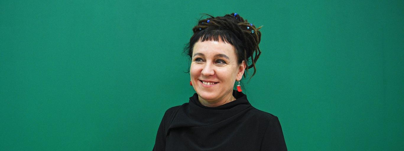 Polish writer Olga Tokarczuk in London