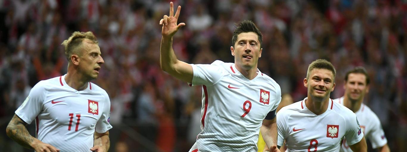 Robert Lewandowski Karol Linetty Kamil Grosicki reprezentacja Polski piłka nożna futbol