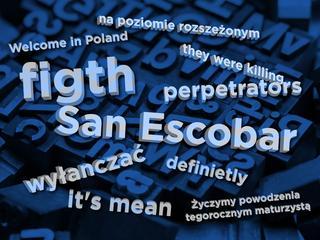 Trudności z angielskim i geografią, obrona błędów ortograficznych