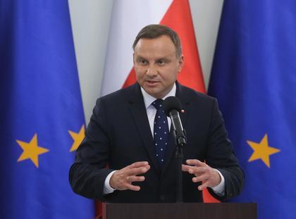 Prezydent Andrzej Duda podczas spotkania, 4 bm. w Pałacu Prezydenckim