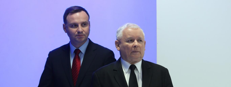 Jarosław Kaczyński Andrzej Duda polityka Prawo i Sprawiedliwość PiS