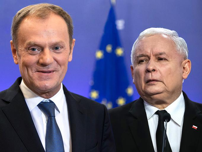 Donald Tusk Jarosław Kaczyński