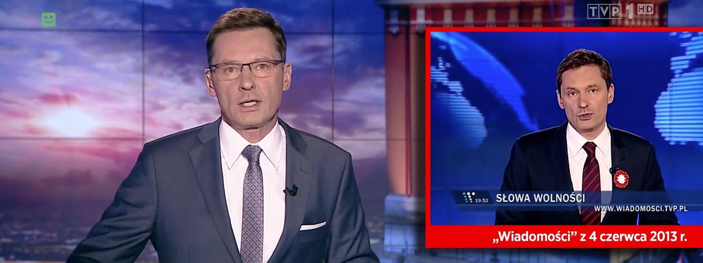 """Krzysztof Ziemiec i """"Wiadomości"""" z 4 czerwca."""