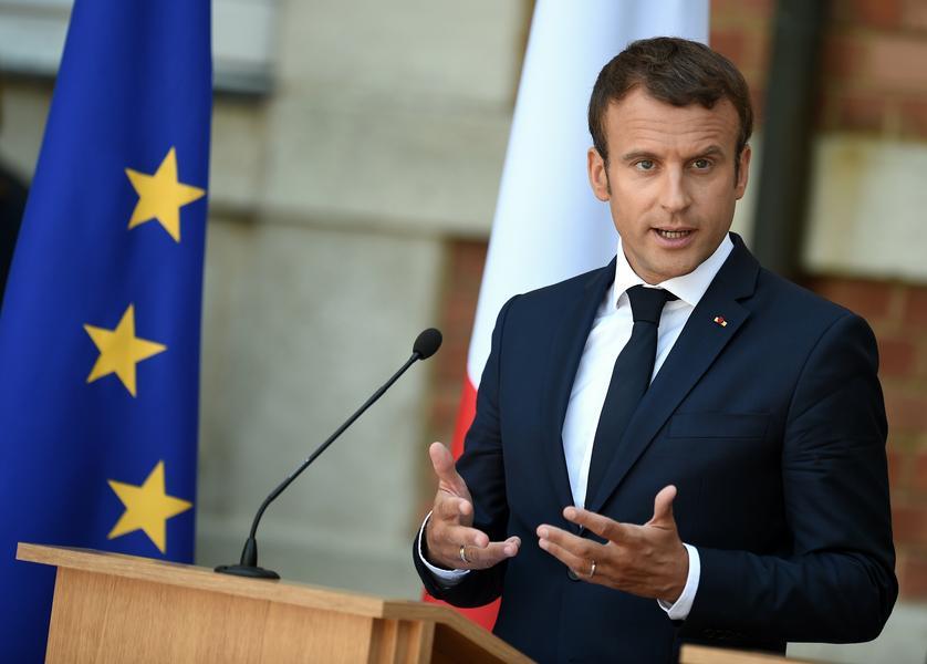 The Pesident of France Emmanuel Macron visits in Bulgaria.