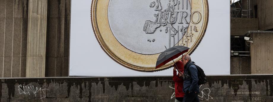 Euro artwork displayed in London