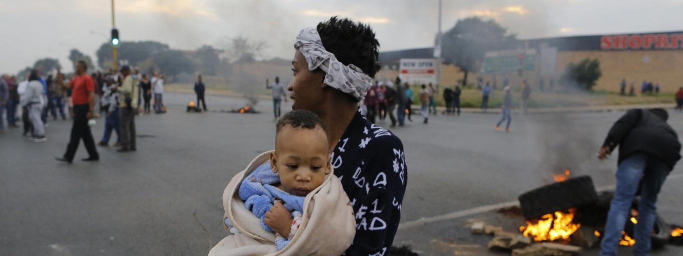South Africa housing and land protest