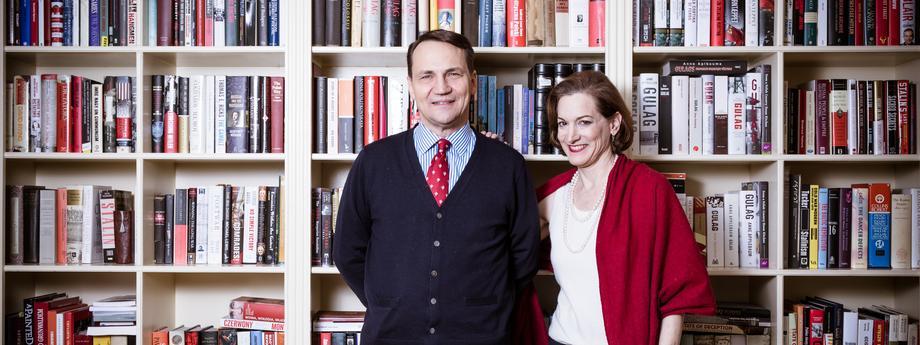 Anne Applebaum i Radoslaw Sikorski