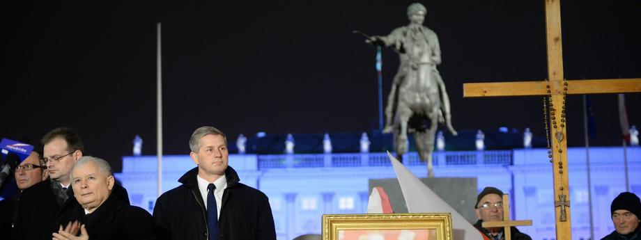 Jarosław Kaczyński, pałac prezydencki, miesięcznica