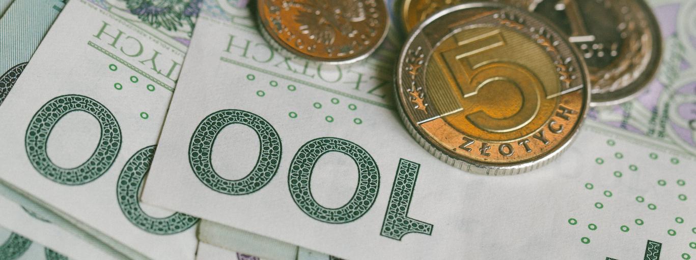 pieniądze złotówka monety banknoty