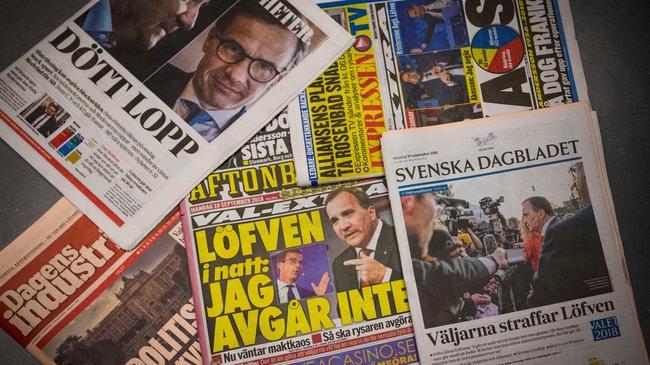 Szwecja wybory głosowanie gazety