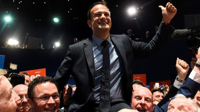 Leo Varadkar wins the Fine Gael parliamentary elections to replace Prime Minister of Ireland (Taoiseach) Enda Kenny as leader of the party in Dublin