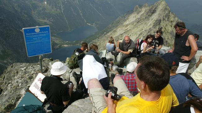 Zakopane Tatry turyści Rysy