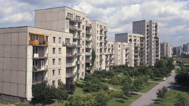 Osiedle Ursynów blokowisko wielka płyta budowa dzielnica warszawa