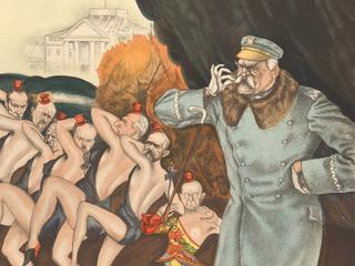 Zdzisław Czermański (1900-1970) Piłsudski-girls, 1931 [J. Piłsudski, A. Koc, W. Sławek, B. Wieniawa-Długoszowski, I. Matuszewski, K. Świtalski, A. Prystor, B. Miedziński]