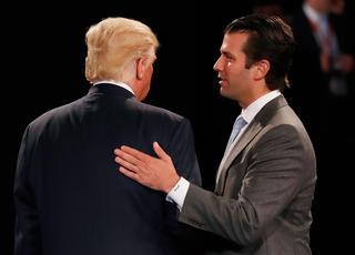 Trump przyłapany