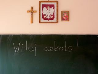 Szkoła religia krzyż klasa