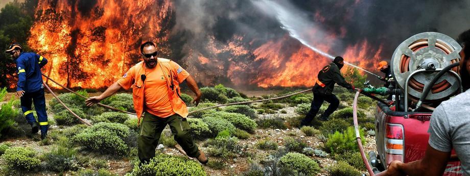 Wielkie pożary w Grecji