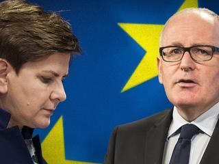 """Timmermans: Państwo prawa w Polsce """"fundamentalnie zagrożone"""""""